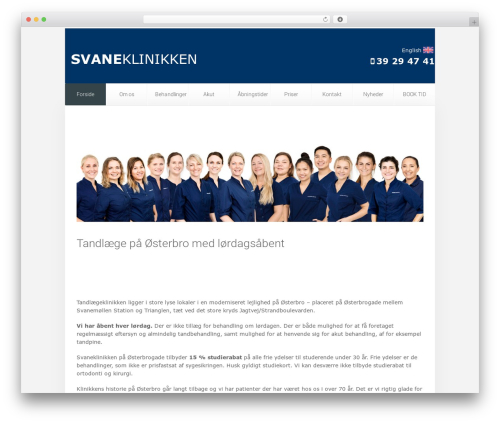 Unity best WordPress template - svaneklinikken.dk