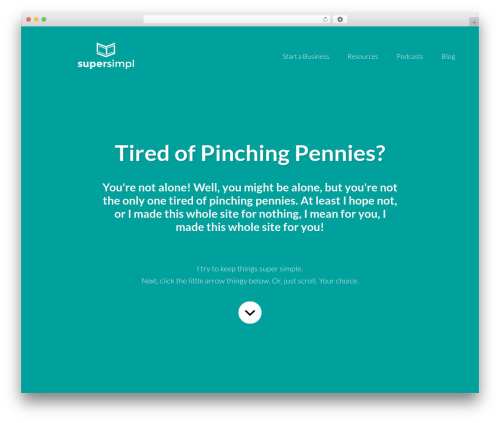 WordPress template Centric Pro - supersimpl.com