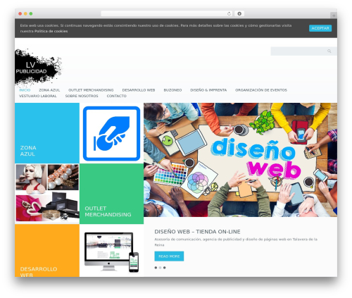 WordPress website template Klasik - lvpublicidad.com