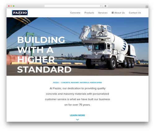 Best WordPress theme Bridge - fazzioconcrete.com