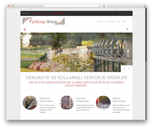 Betheme WordPress website template - ferforjesitesi.com