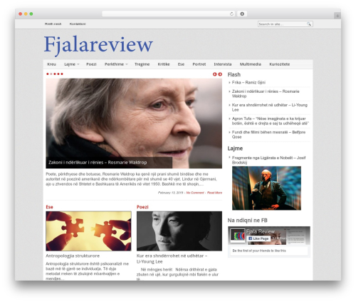 Blognews WordPress magazine theme - fjalareview.com