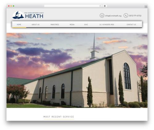 Church Suite best WordPress theme - fumcheath.org