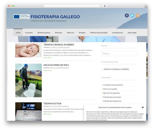 Coller free website theme - fisioterapiagallego.com
