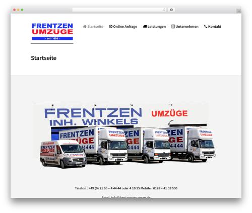 Corporate Portfolio best free WordPress theme - frentzen-umzuege.de