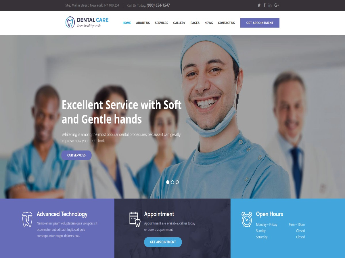 Dentalcare business WordPress theme