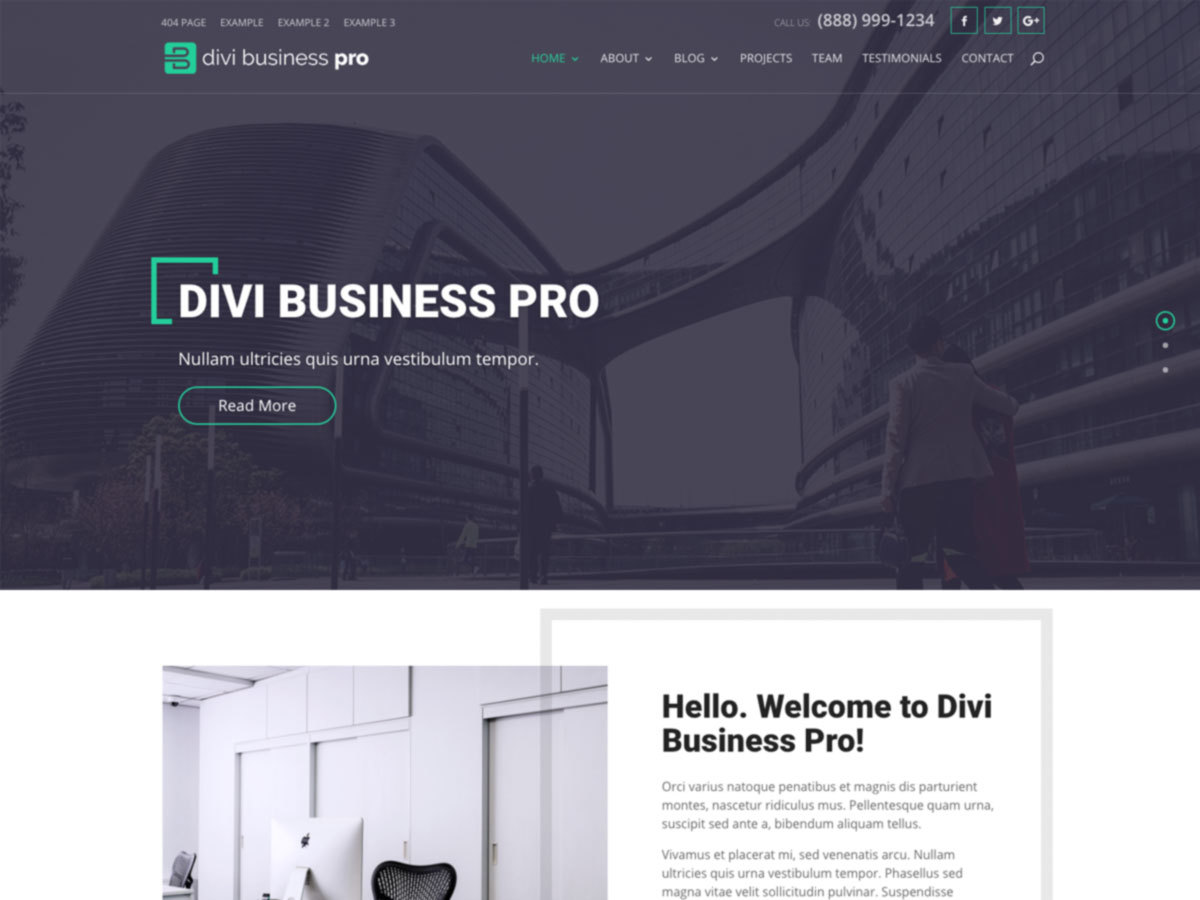 Divi Business Pro company WordPress theme