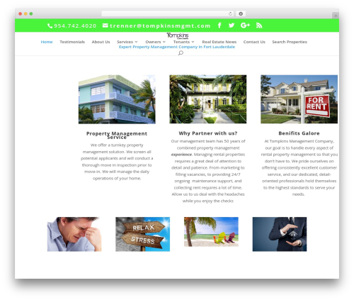 Divi business WordPress theme - fortlauderdaleflpropertymanagement.com