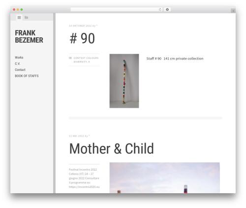 Editor free WordPress theme - frankbezemer.nl