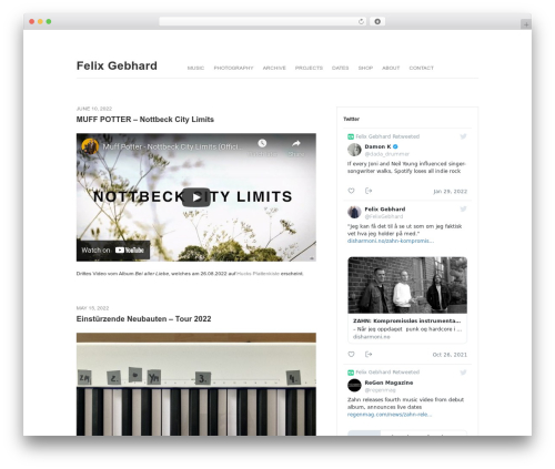 Fifty Fifth Street WordPress template - felixgebhard.com