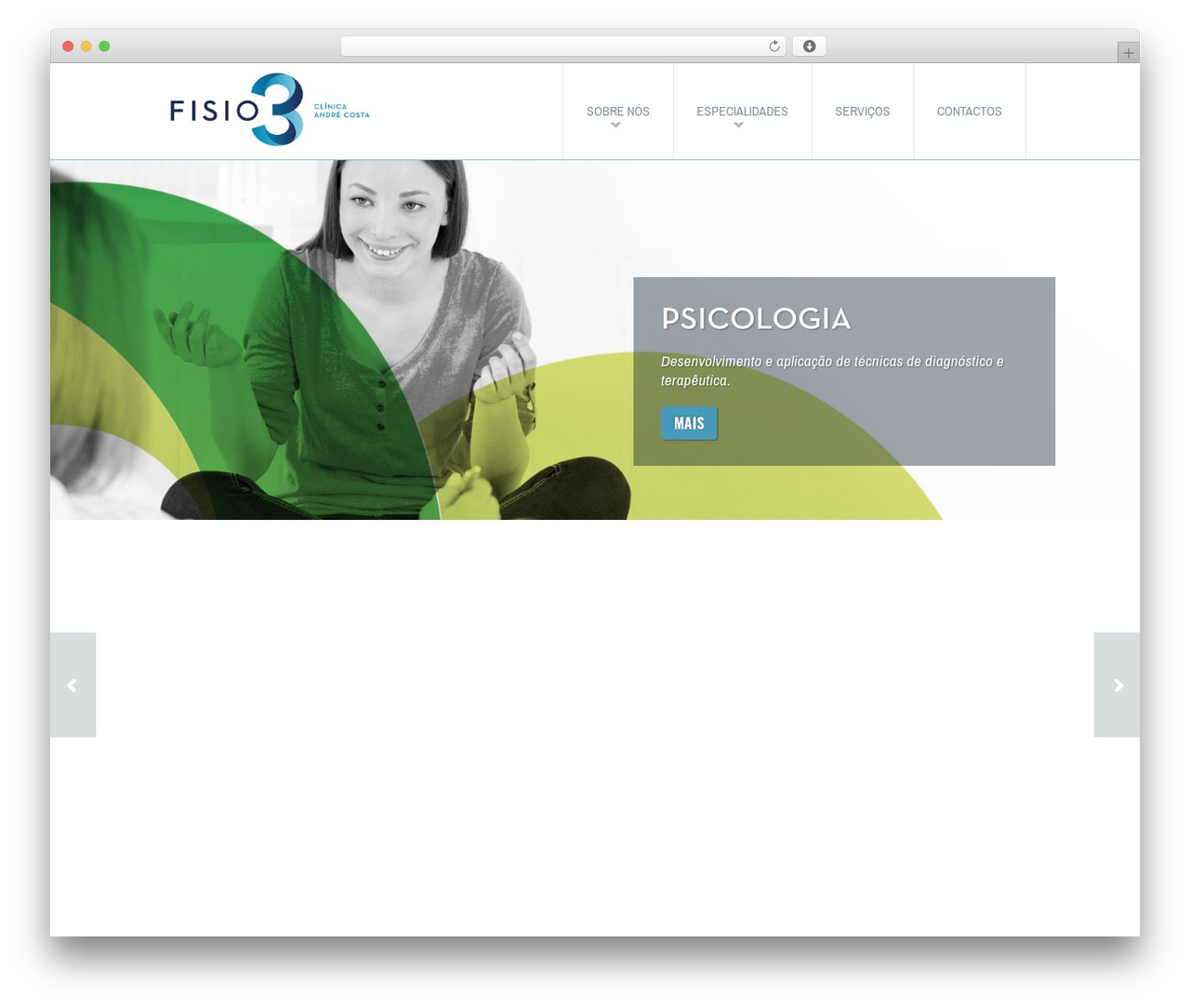 Fit WP best WordPress template - fisio3.pt