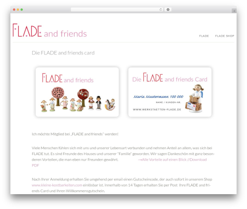 FLADE WordPress theme - flade-and-friends.de