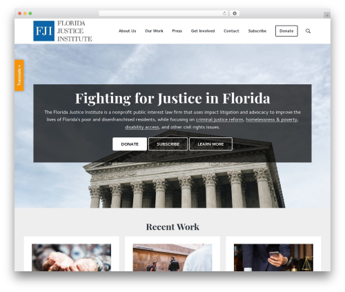 Genesis business WordPress theme - floridajusticeinstitute.org
