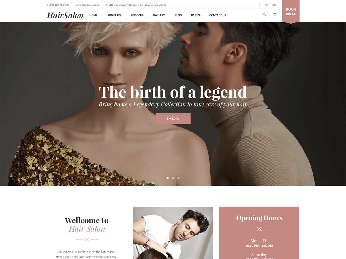 HairSalon best WordPress theme