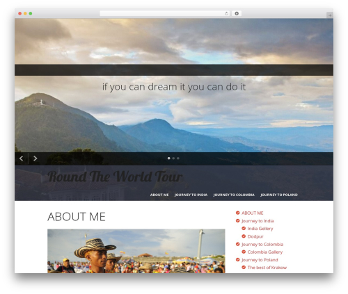 I Am One premium WordPress theme - fentontour.com