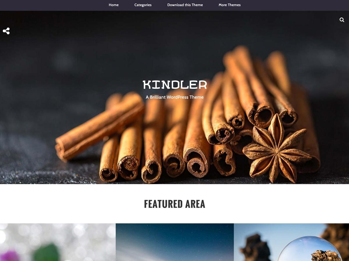 Kindler free website theme