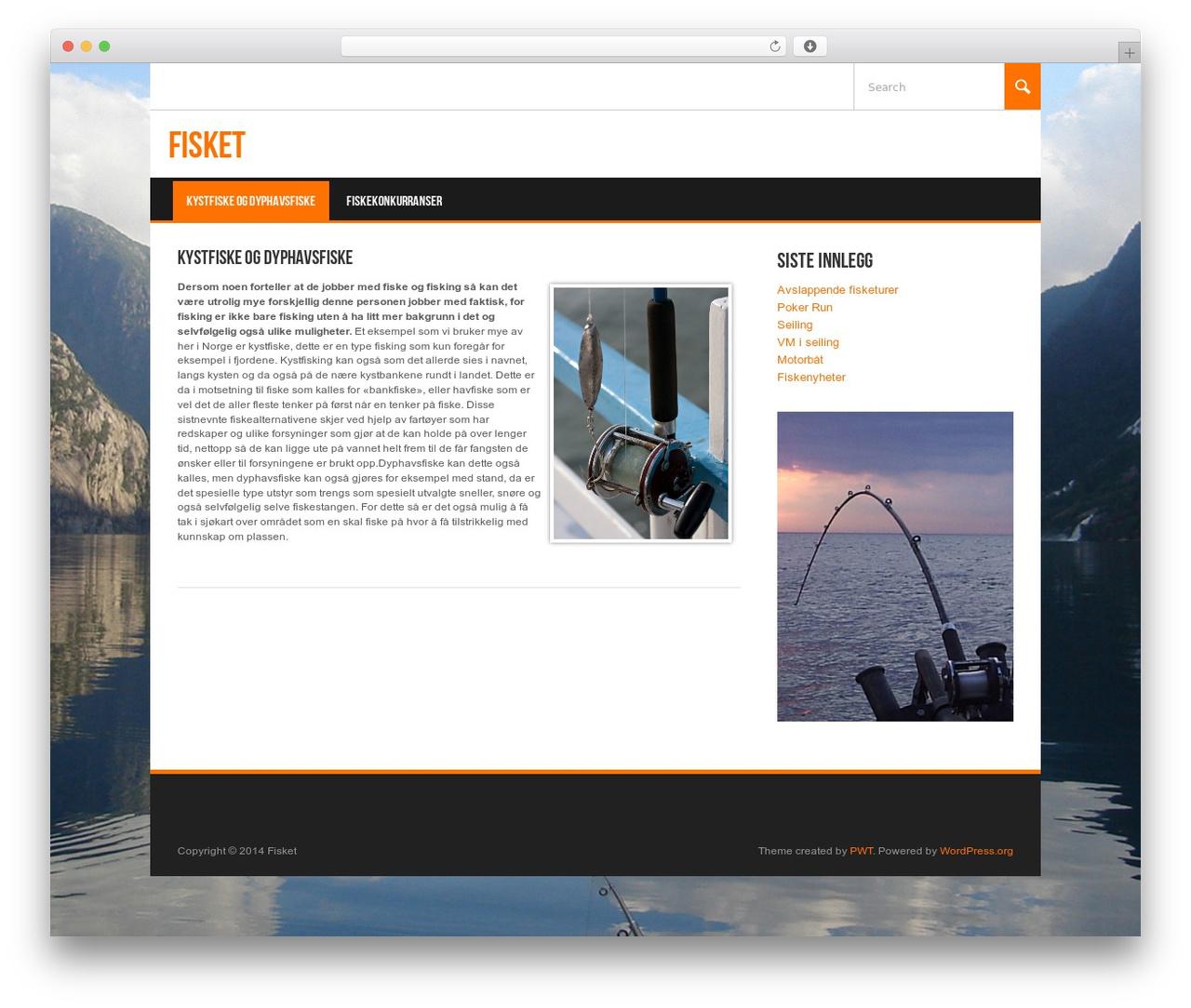 Koenda WordPress theme - fisket.org