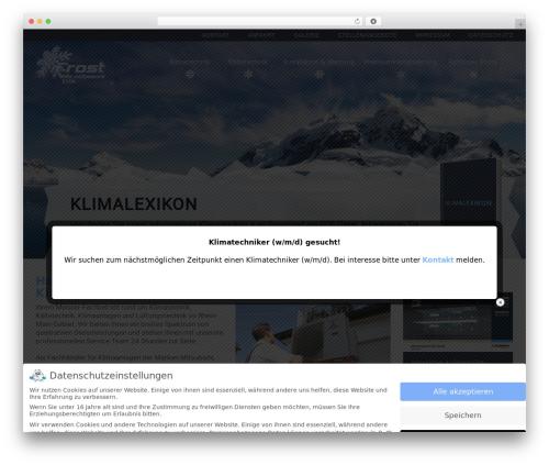 Main Theme WP template - frost-schier.de