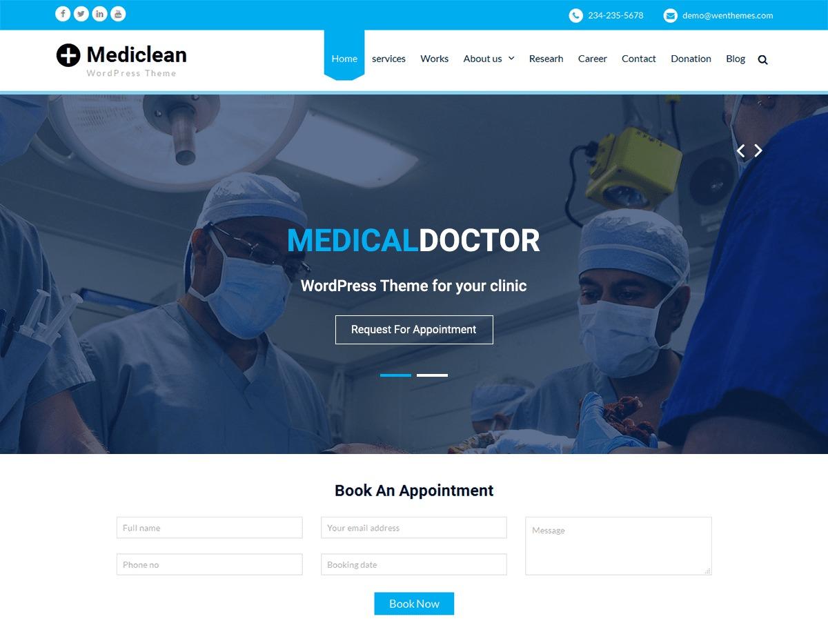 Mediclean WordPress theme download
