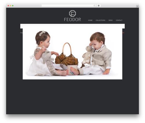 MiniFolio WordPress template - feodor-fashion.com