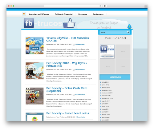 Nublu WordPress theme - fb-trucos.com