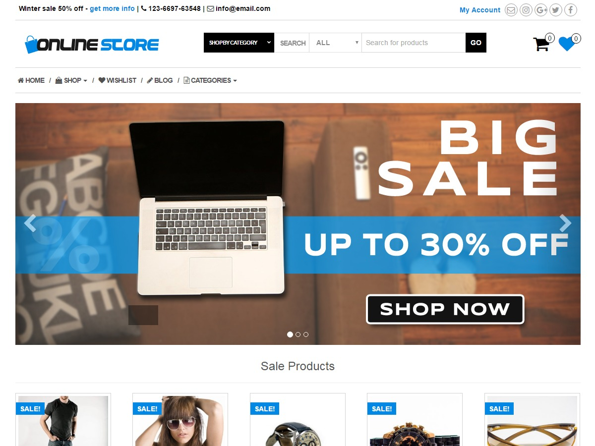 Online Store WordPress shop theme