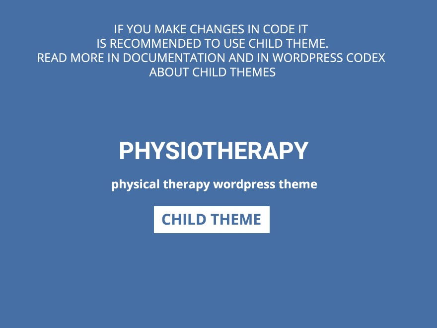 Physiotherapy Child WordPress theme