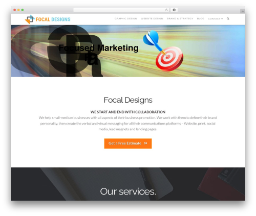 Pro WordPress template for business - focaldesigns.ca