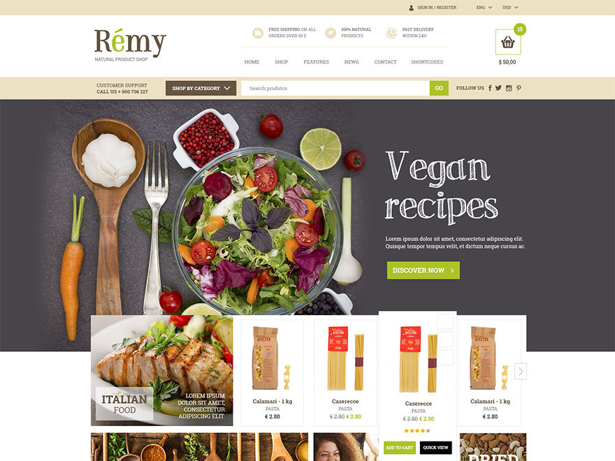 Rémy WordPress ecommerce template