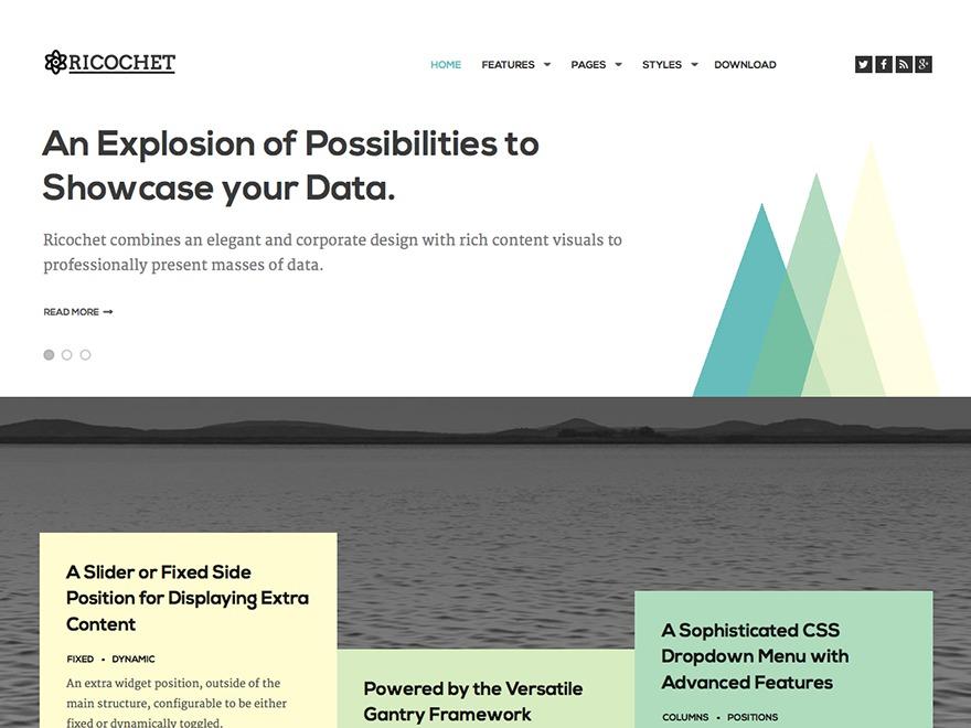 Ricochet WordPress theme