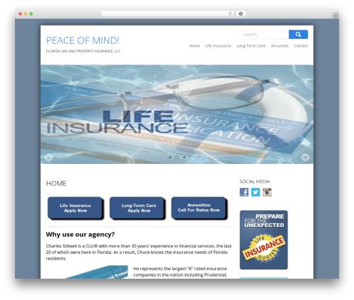 SKT Biz WordPress theme - floridalifeinsurance.company