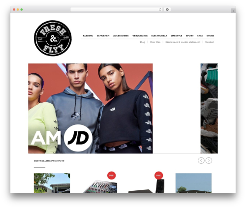 The Retailer WordPress template - freshandflyy.nl