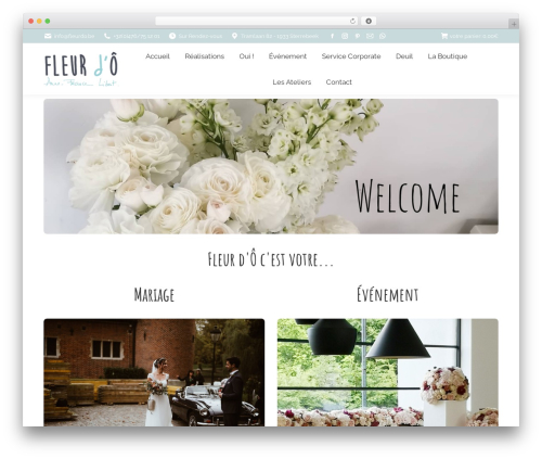 The7 WordPress theme - fleurdo.be