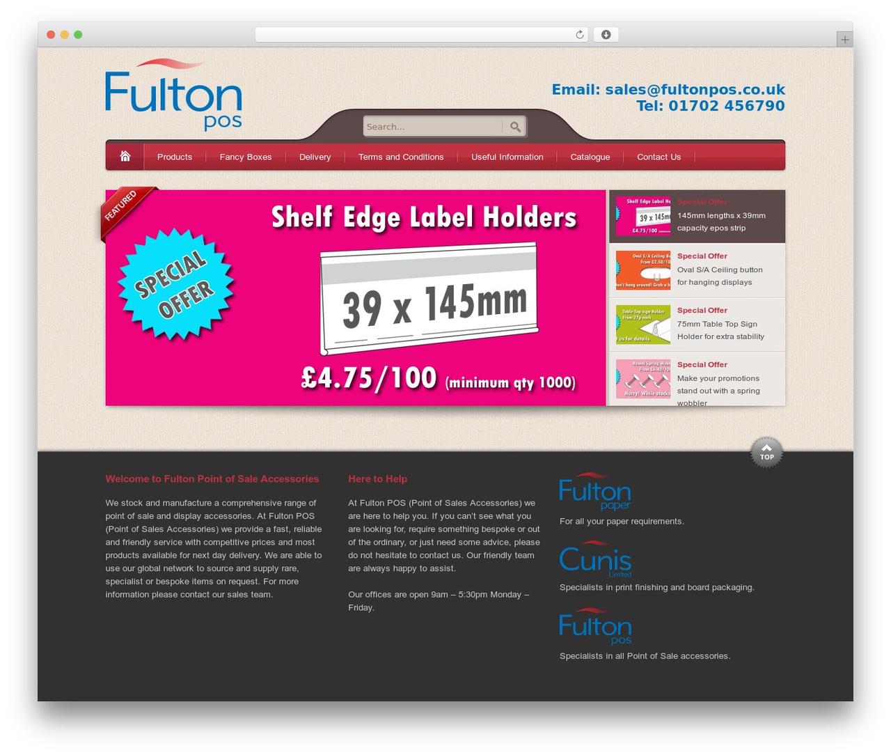 Theme WordPress Bellissima - fultonpos.co.uk