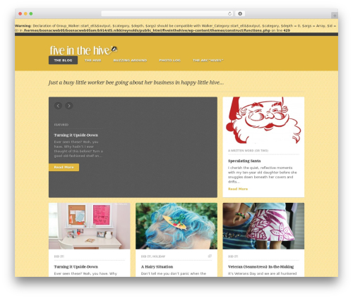 Theme WordPress Construct - fiveinthehive.com