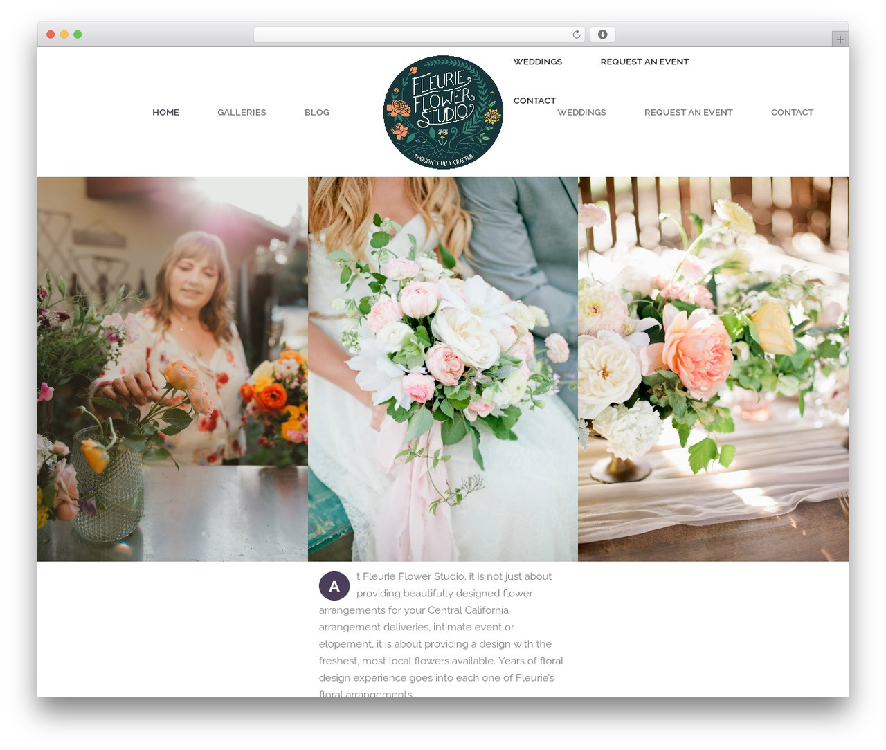 Theme WordPress Fleur - fleurieflower.com