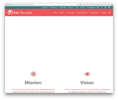 Total best free WordPress theme - fairtourism.nl