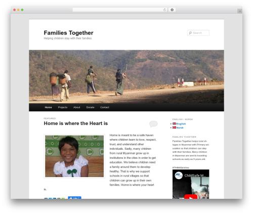 Twenty Eleven free WordPress theme - famtogether.org