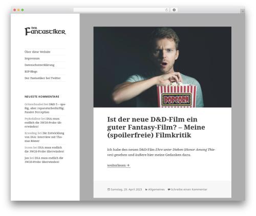 Twenty Fifteen WordPress theme - fantastiker.de