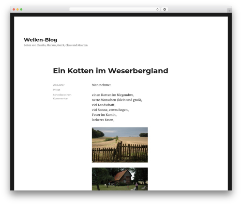 Twenty Sixteen theme WordPress free - familie-wellen.de