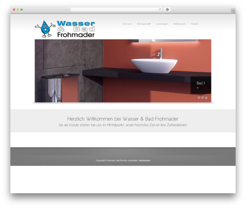 WordPress template Reflection - frohmader-thiersheim.de