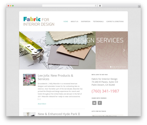 WordPress theme Filtered - fabricforinteriordesign.com