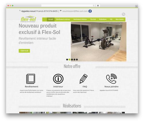WP template Nevon Theme - flex-sol.com