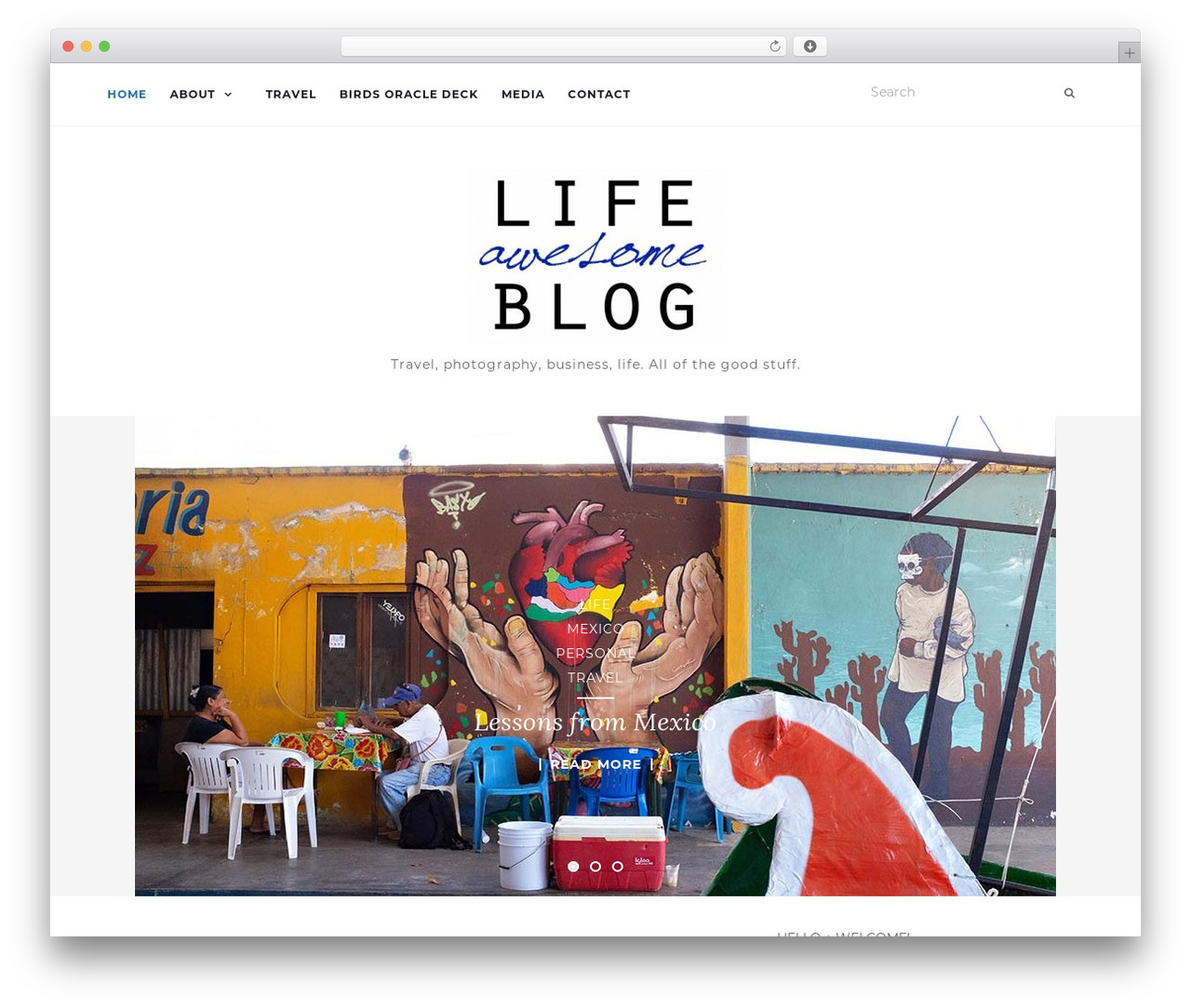 Activello template WordPress free - lifeawesomeblog.com