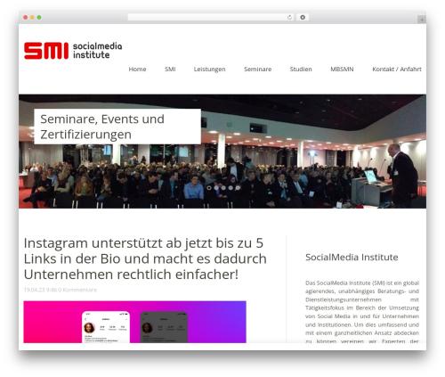 Baylys WordPress theme design - socialmedia-institute.com