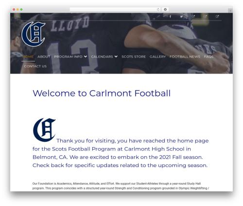 Gym Express Pro fitness WordPress theme - carlmontfootball.com
