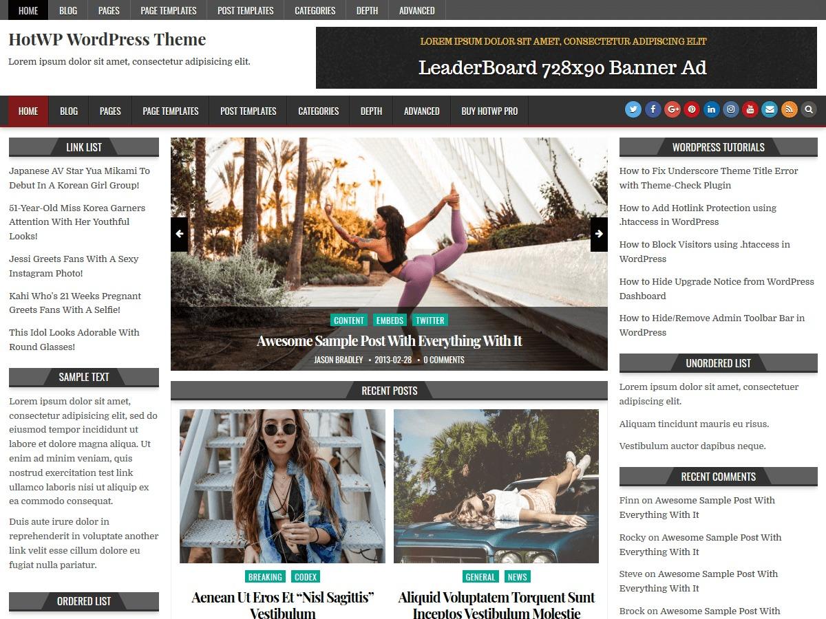 HotWP WordPress news theme