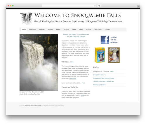 Oracle WordPress page template - snoqualmiefalls.com