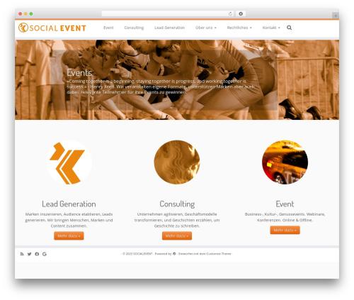 Customizr best free WordPress theme - socialevent.de
