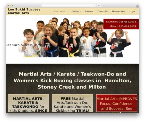 Martial Arts V8 best WordPress theme - leesukhisuccessmartialarts.com